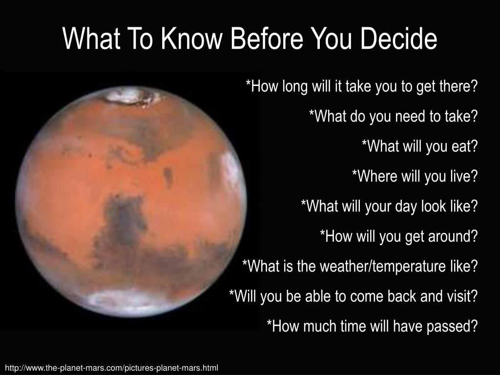 What To Know Before You Decide