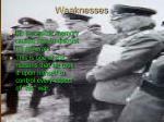 weaknesses