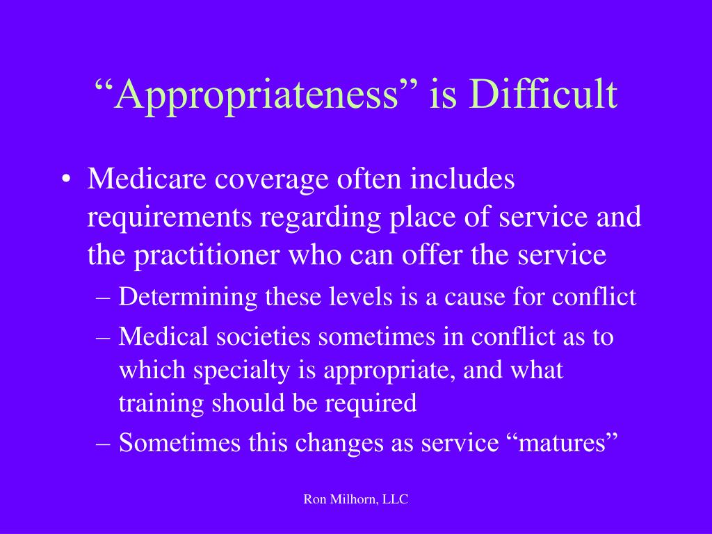 """Appropriateness"" is Difficult"