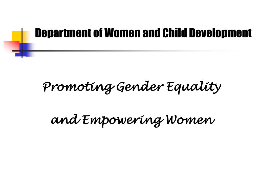 department of women and child development l.