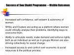 success of swa shakti programme visible outcomes