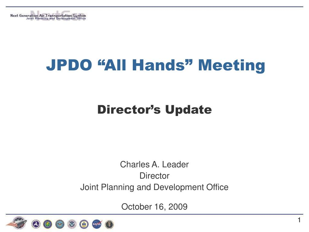 jpdo all hands meeting l.