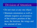 division of attention