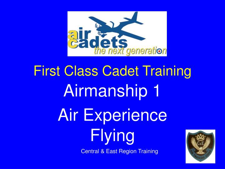 first class cadet training n.