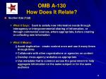 omb a 130 how does it relate38