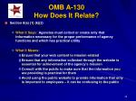 omb a 130 how does it relate39