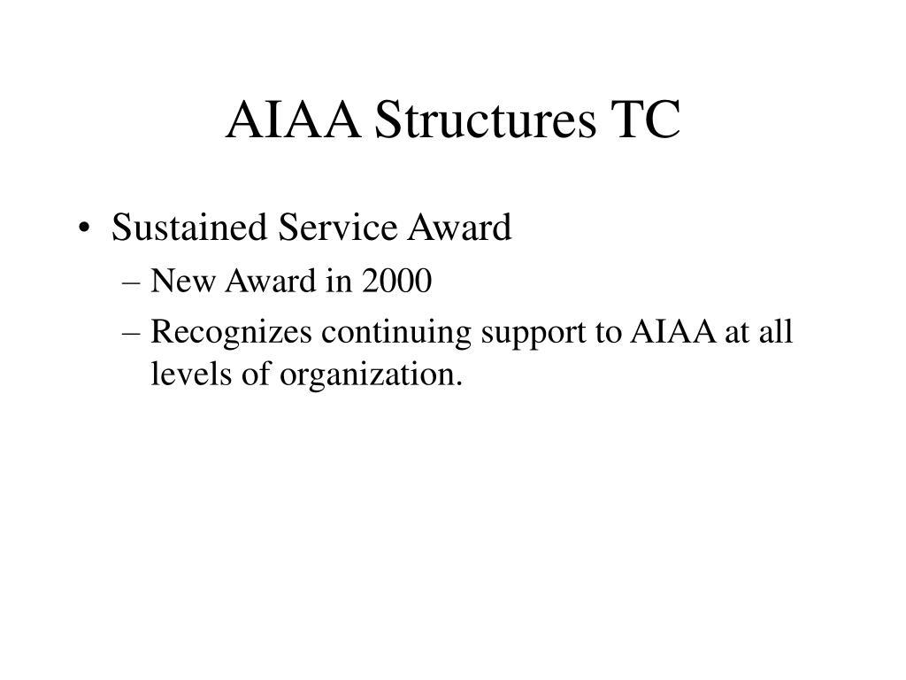 AIAA Structures TC