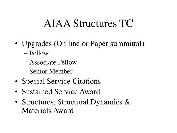 Aiaa structures tc2