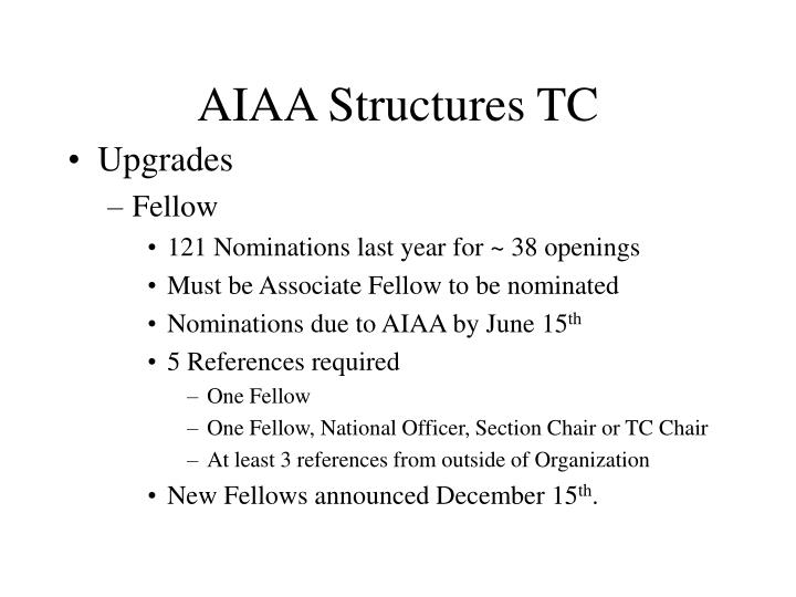 Aiaa structures tc3