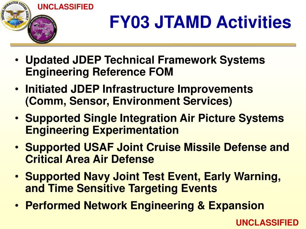 FY03 JTAMD Activities