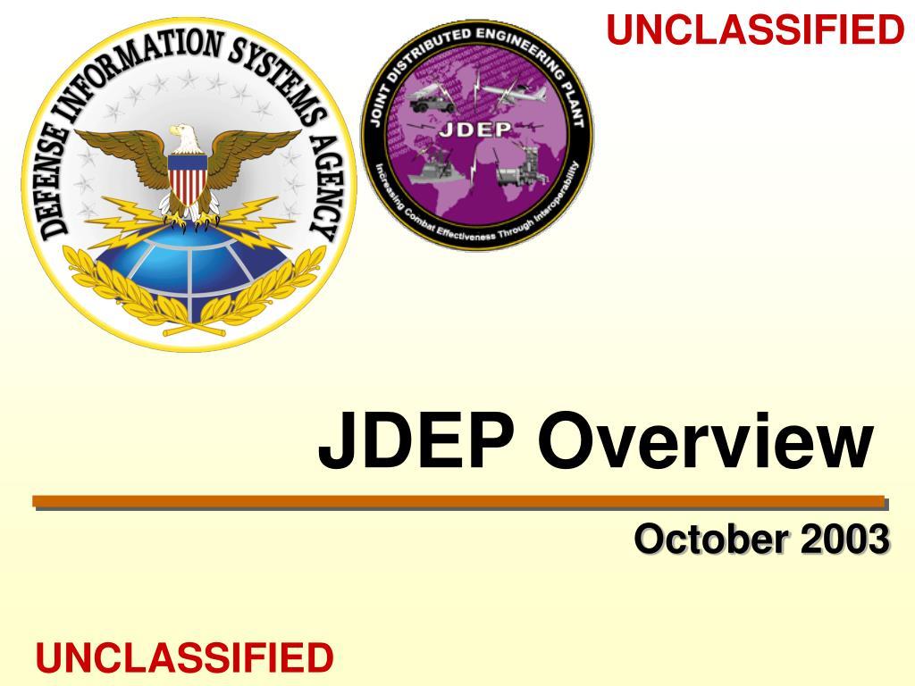 JDEP Overview