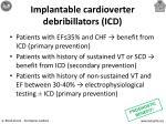 implantable cardioverter debribillators icd
