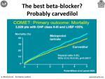the best beta blocker probably carvedilol