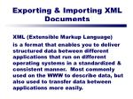 exporting importing xml documents