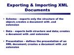 exporting importing xml documents55