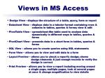 views in ms access
