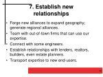 7 establish new relationships