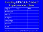 including uig s into district implementation plans