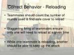 correct behavior reloading