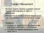 correct movement