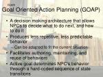 goal oriented action planning goap
