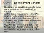 goap development benefits