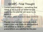 goap final thought
