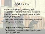 goap plan