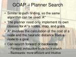 goap planner search