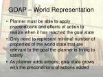 goap world representation