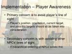 implementation player awareness