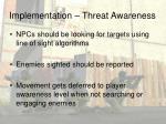 implementation threat awareness