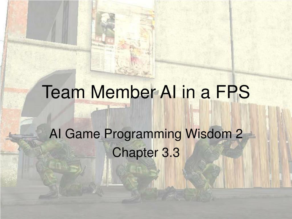 team member ai in a fps l.