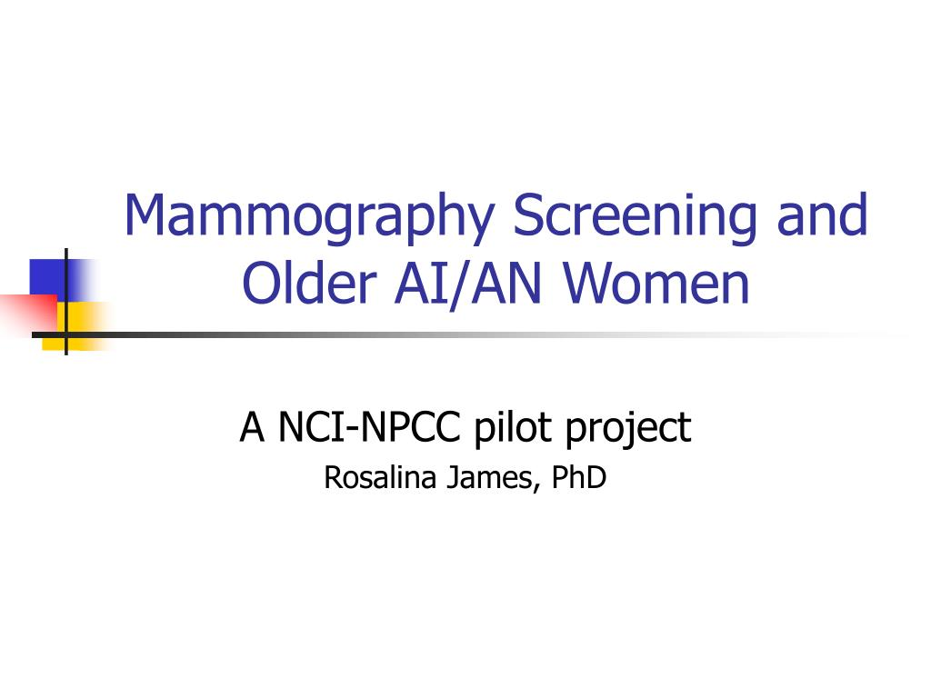 mammography screening and older ai an women l.