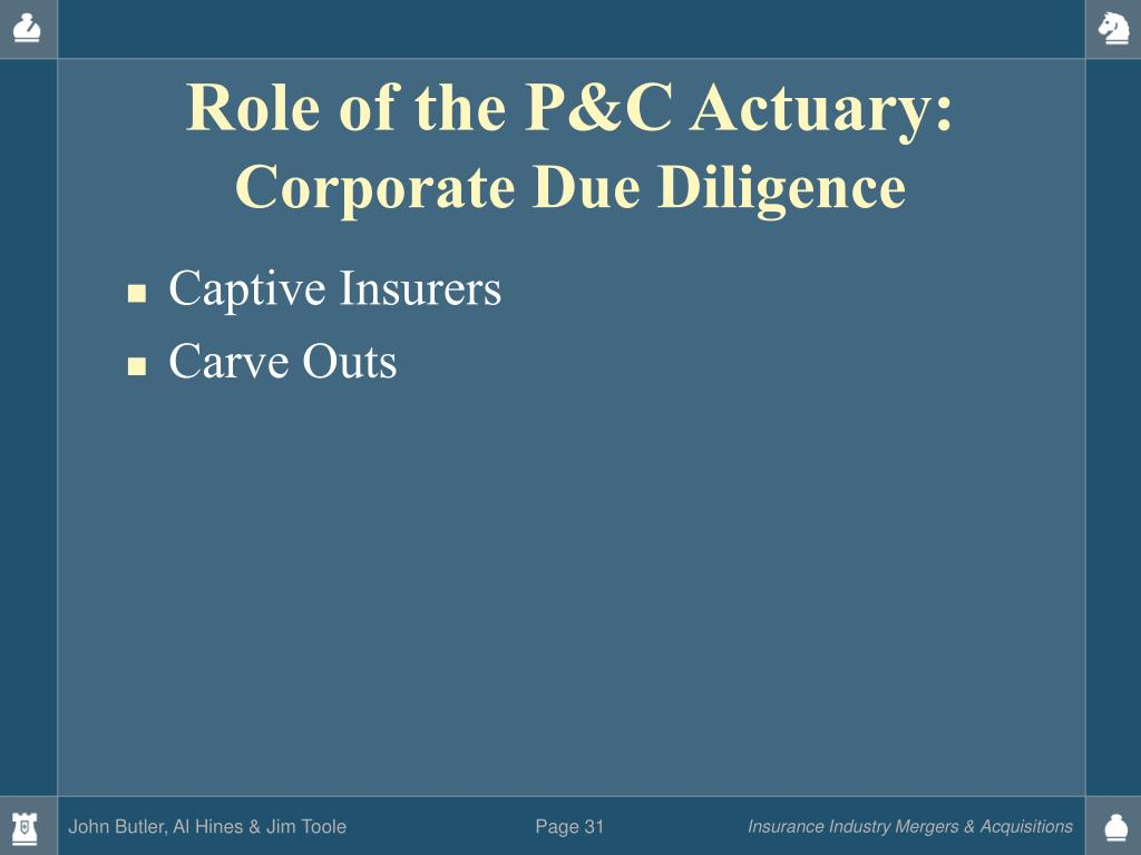 Role of the P&C Actuary: