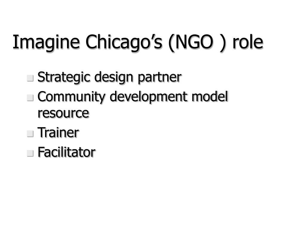 Imagine Chicago's (NGO ) role