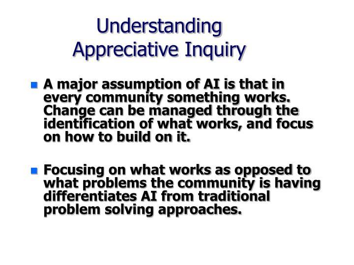 Understanding appreciative inquiry