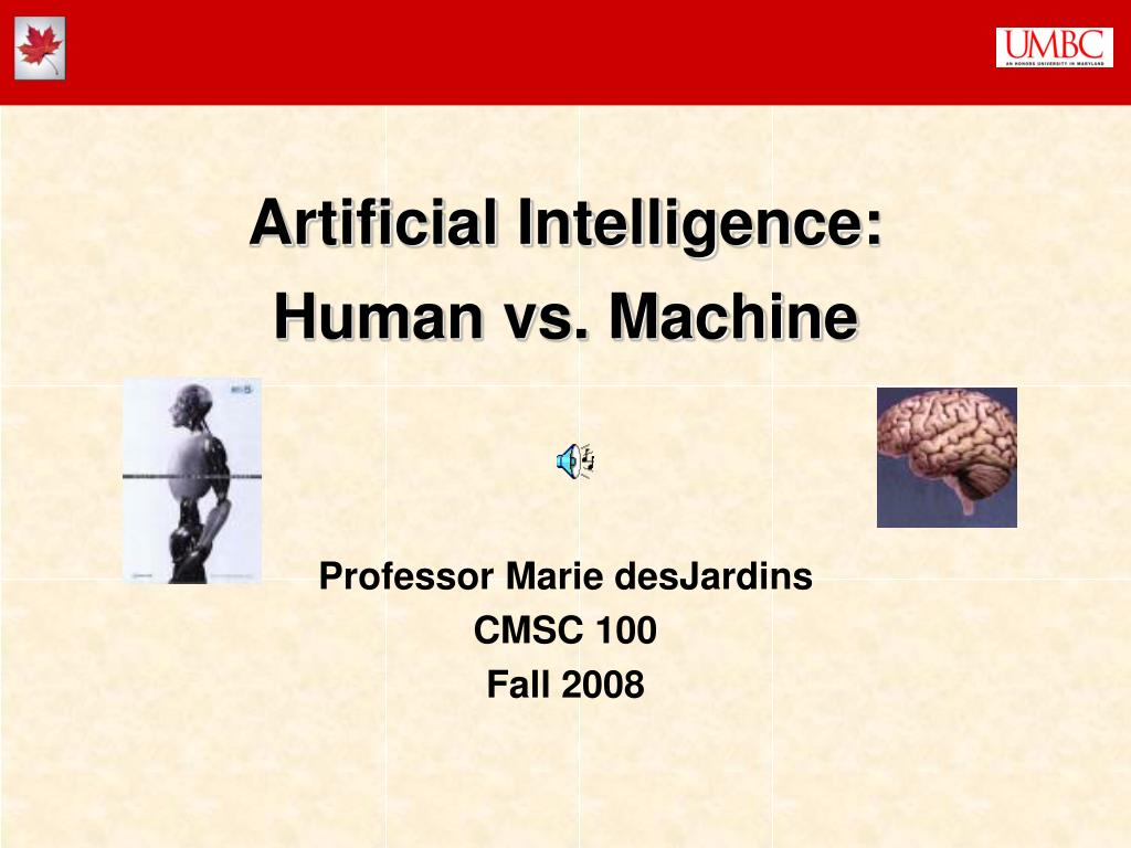 artificial intelligence human vs machine l.