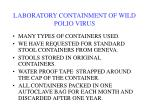 laboratory containment of wild polio virus