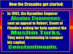 how the crusades got started