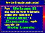 how the crusades got started4