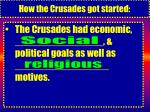 how the crusades got started5