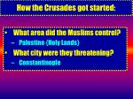 how the crusades got started6