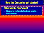 how the crusades got started9