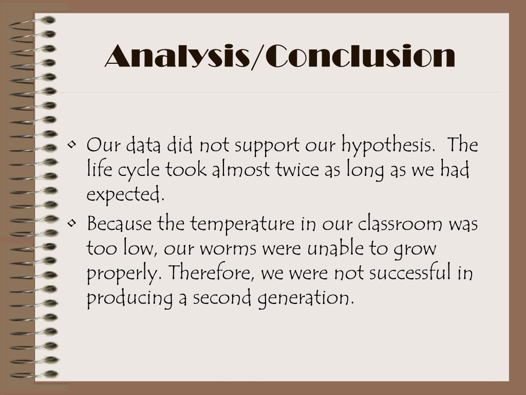 Analysis/Conclusion