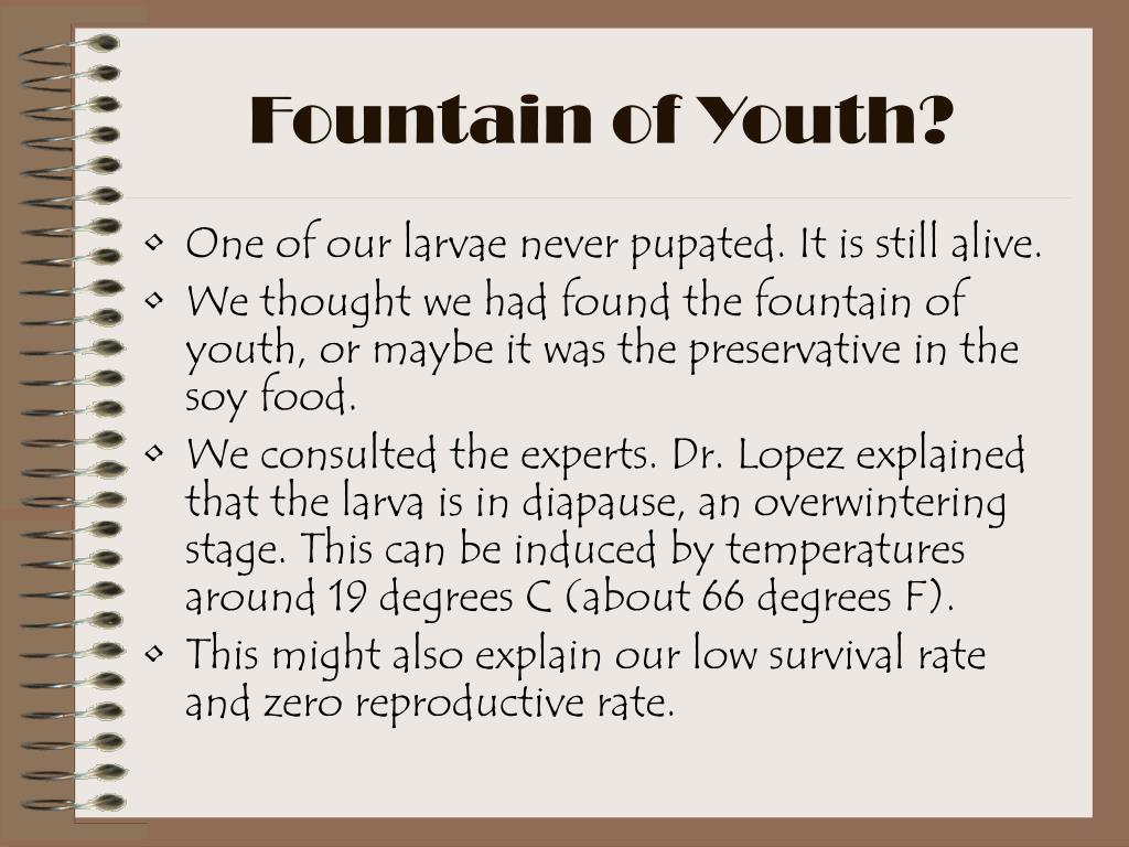 Fountain of Youth?