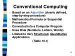 conventional computing