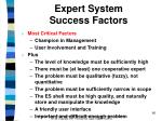 expert system success factors