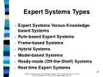 expert systems types