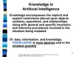 knowledge in artificial intelligence